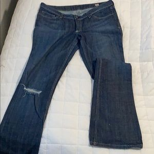 People's Liberation Dark Wash Flare Jean